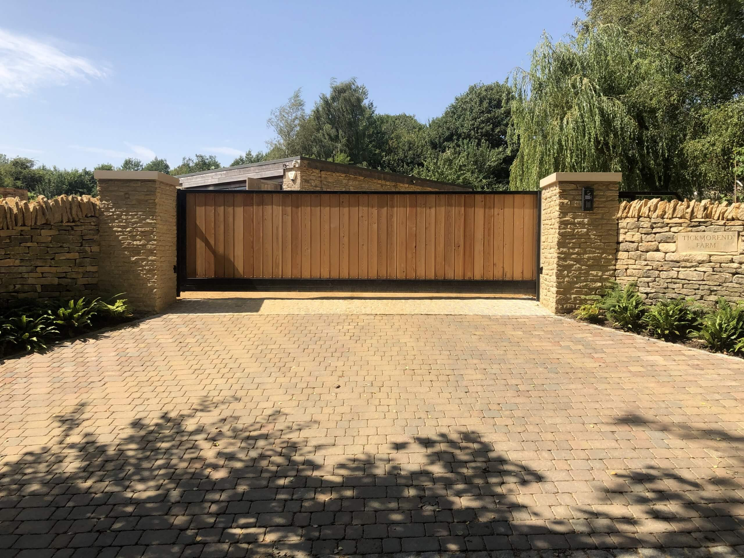 Stone Walling with Gate